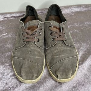 TOMS Mens Waxed Twill Cordones Taupe